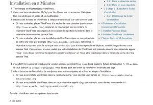 Installation officielle WordPress 5 min
